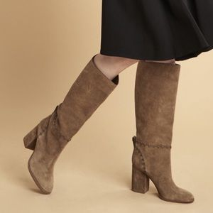 NEW Tory Burch Contraire Suede 90mm Knee Boot